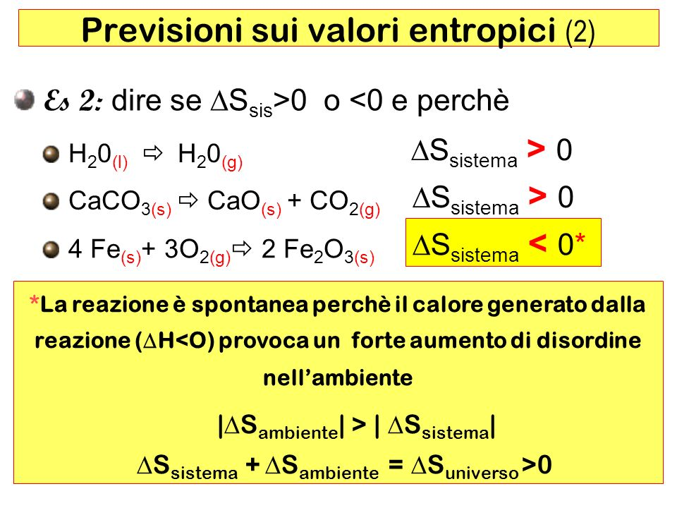 Previsioni sui valori entropici (2)