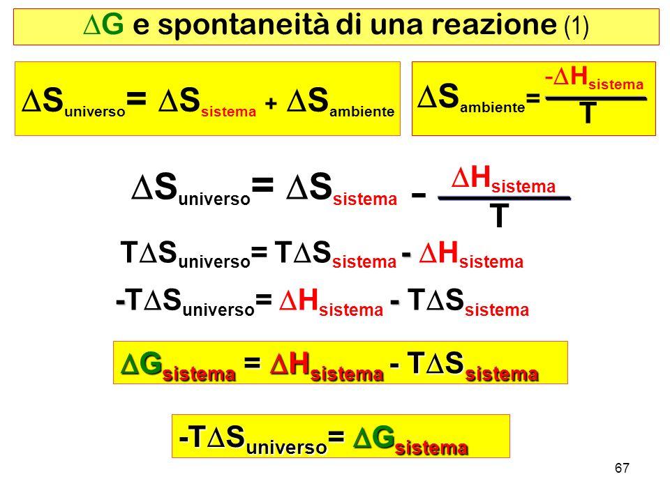 DG e spontaneità di una reazione (1)