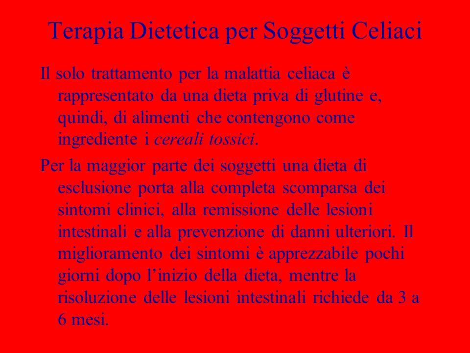 Terapia Dietetica per Soggetti Celiaci