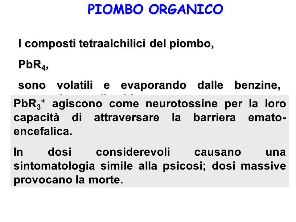 PIOMBO ORGANICO I composti tetraalchilici del piombo, PbR4,