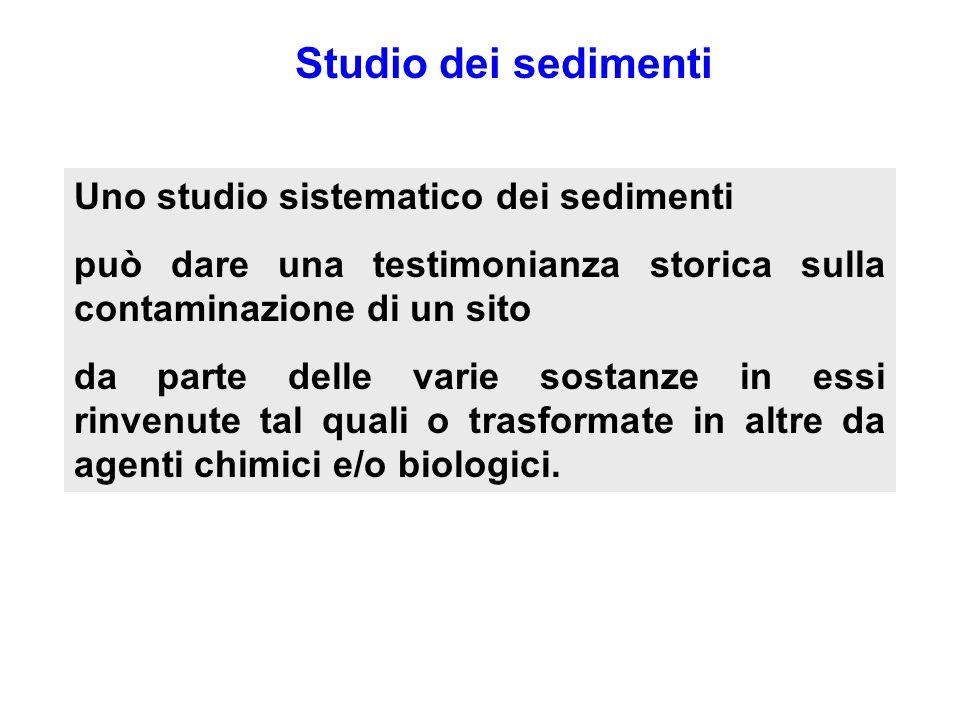 Studio dei sedimenti Uno studio sistematico dei sedimenti