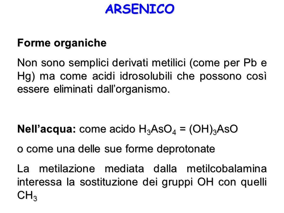 ARSENICO Forme organiche