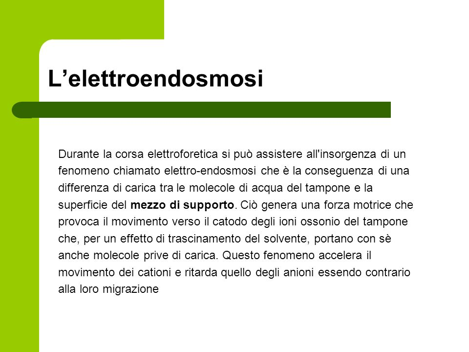 L'elettroendosmosi