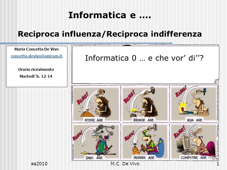 Reciproca influenza/Reciproca indifferenza