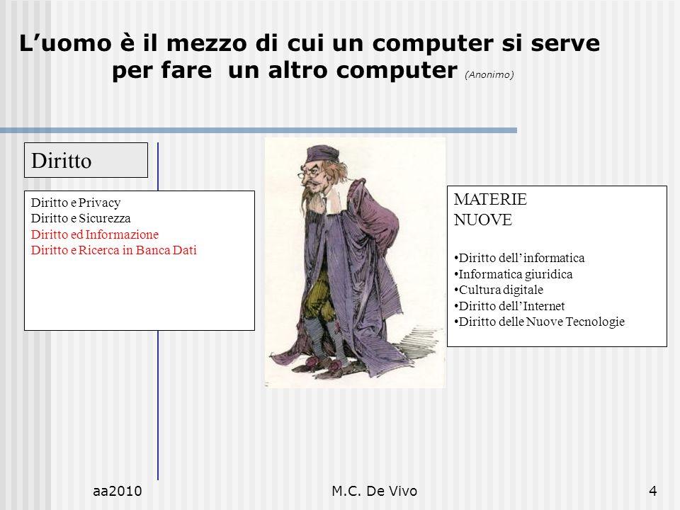 L'uomo è il mezzo di cui un computer si serve