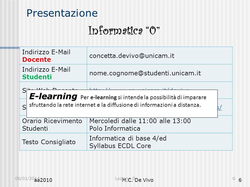Informatica 0 Presentazione