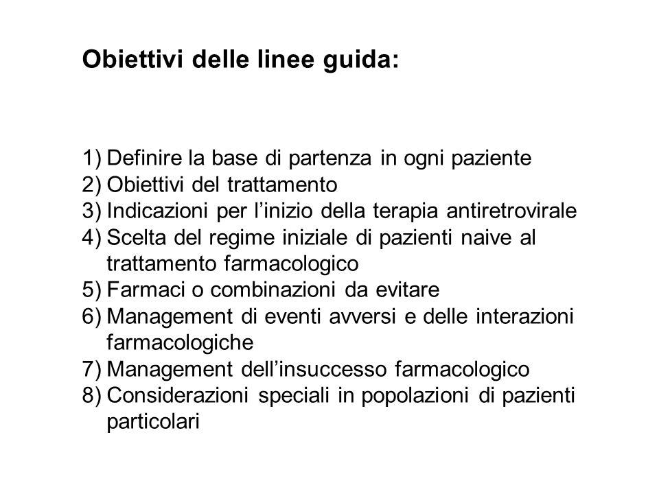 Obiettivi delle linee guida: