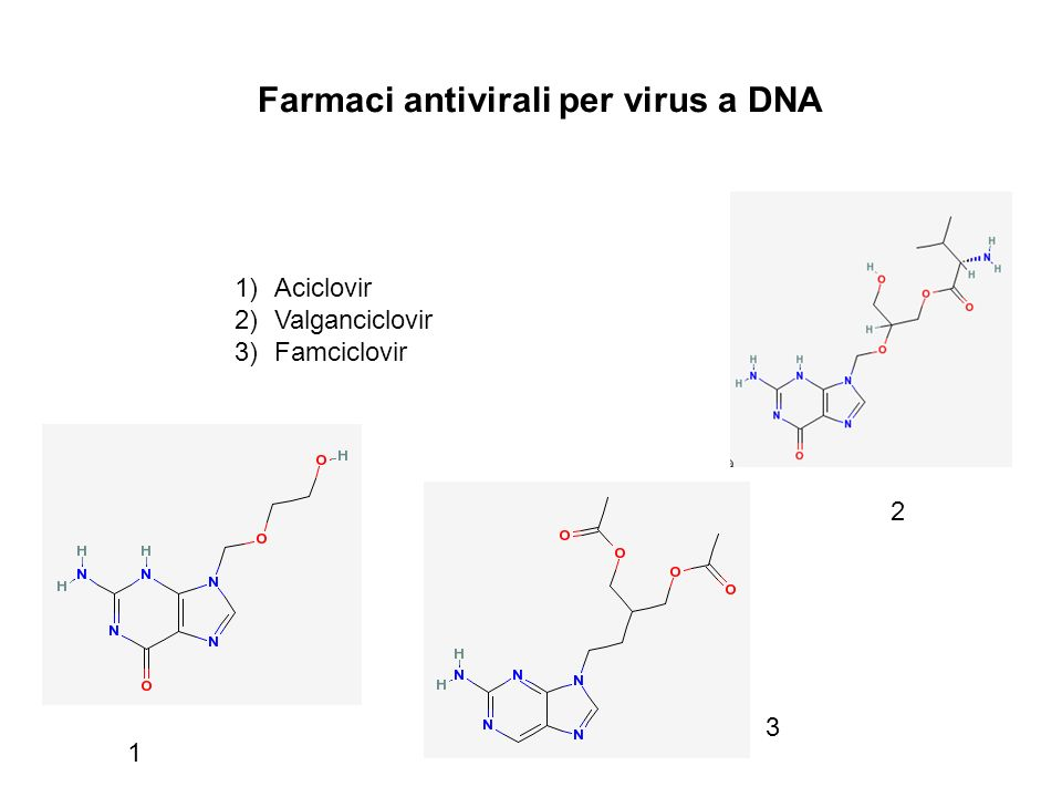 Farmaci antivirali per virus a DNA