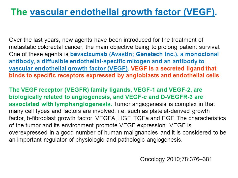 The vascular endothelial growth factor (VEGF).