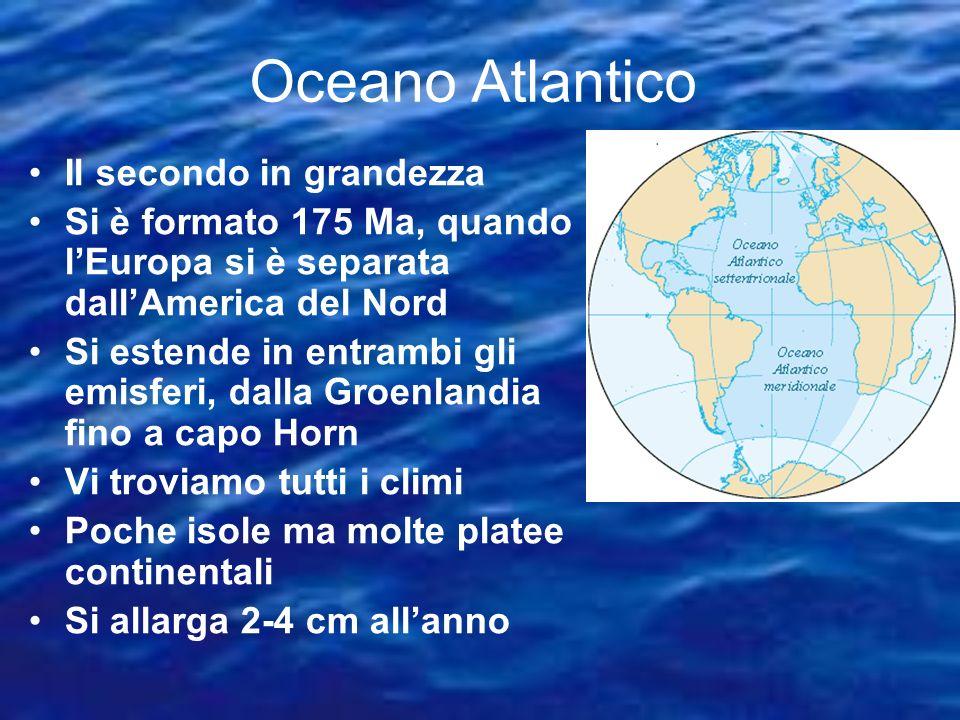 Oceano Atlantico Il secondo in grandezza