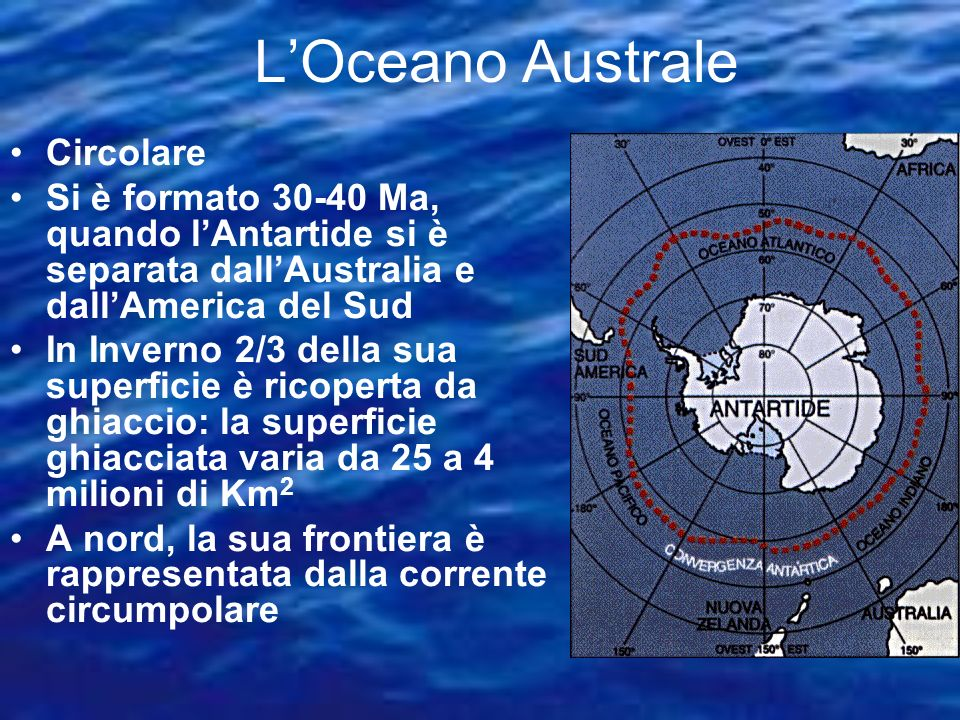 L'Oceano Australe Circolare
