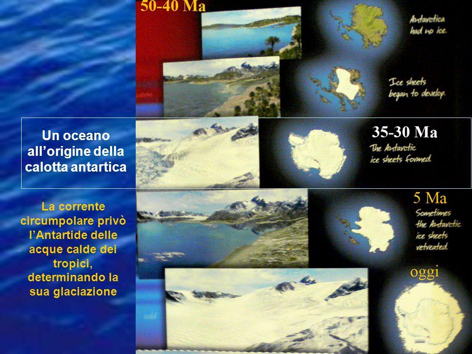 Un oceano all'origine della calotta antartica