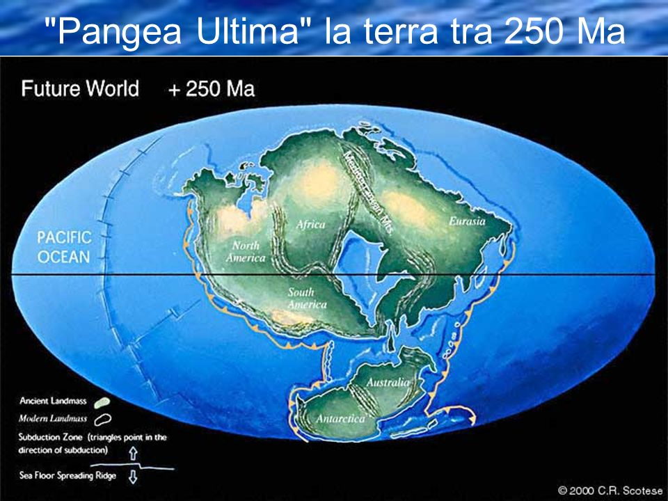 Pangea Ultima la terra tra 250 Ma