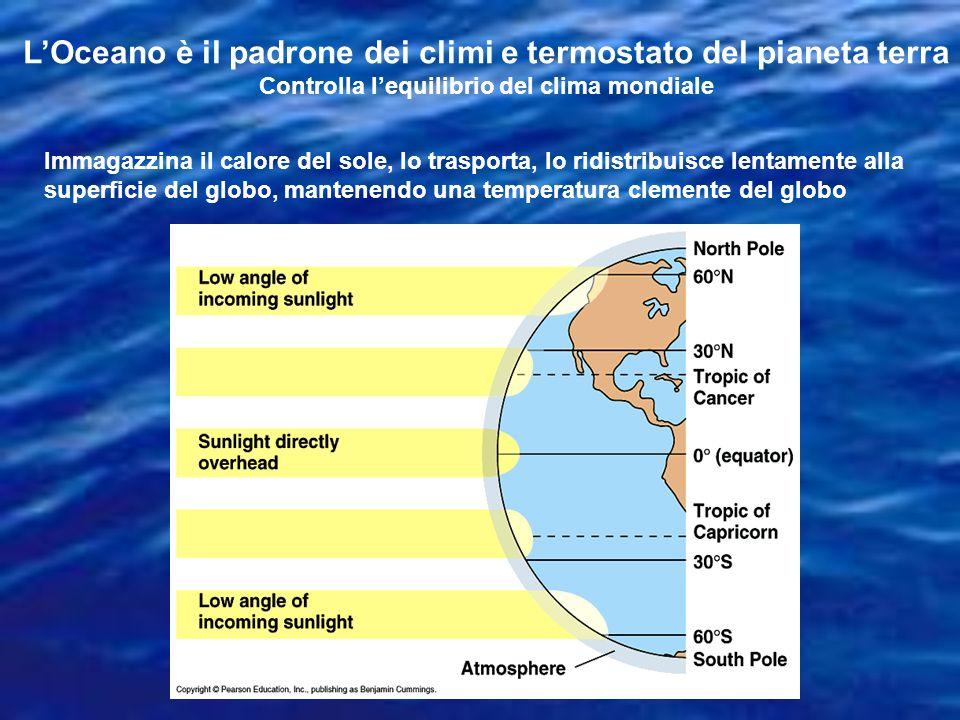 L'Oceano è il padrone dei climi e termostato del pianeta terra