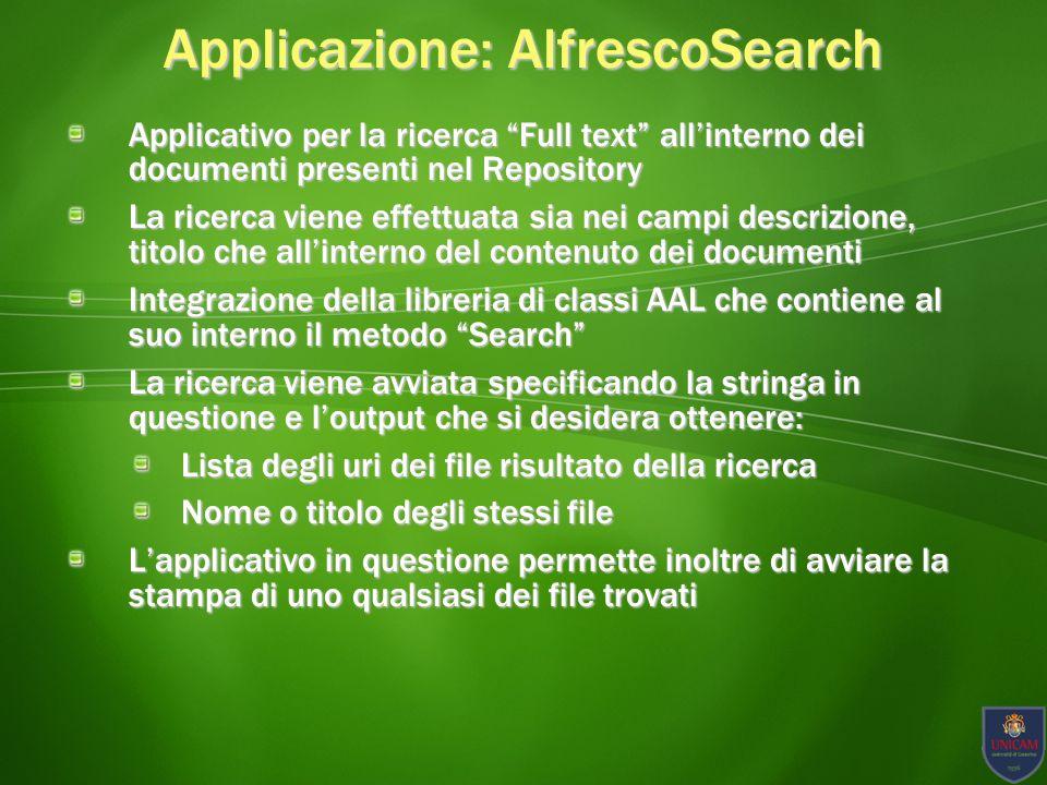 Applicazione: AlfrescoSearch