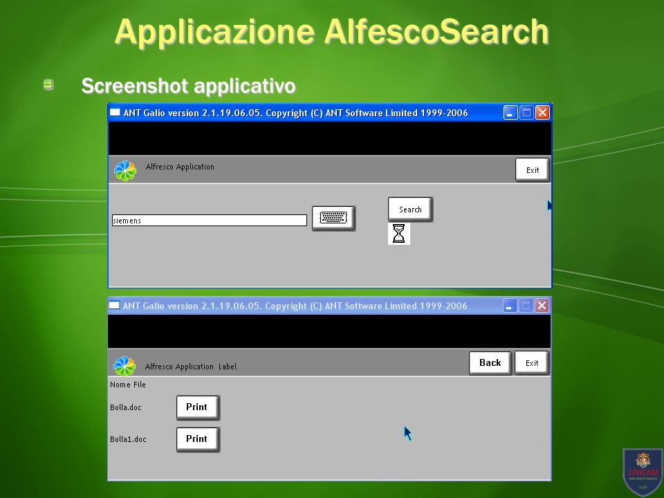 Applicazione AlfescoSearch