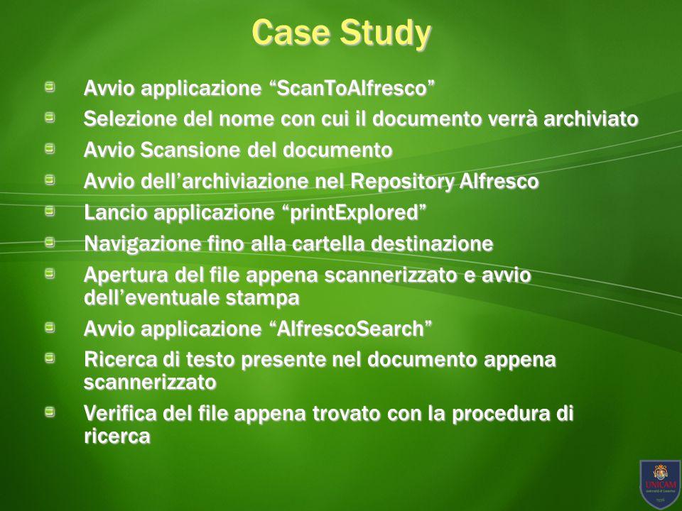 Case Study Avvio applicazione ScanToAlfresco
