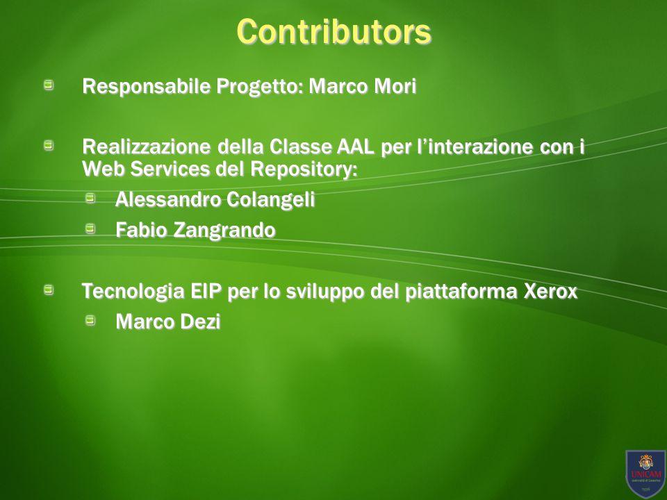 Contributors Responsabile Progetto: Marco Mori