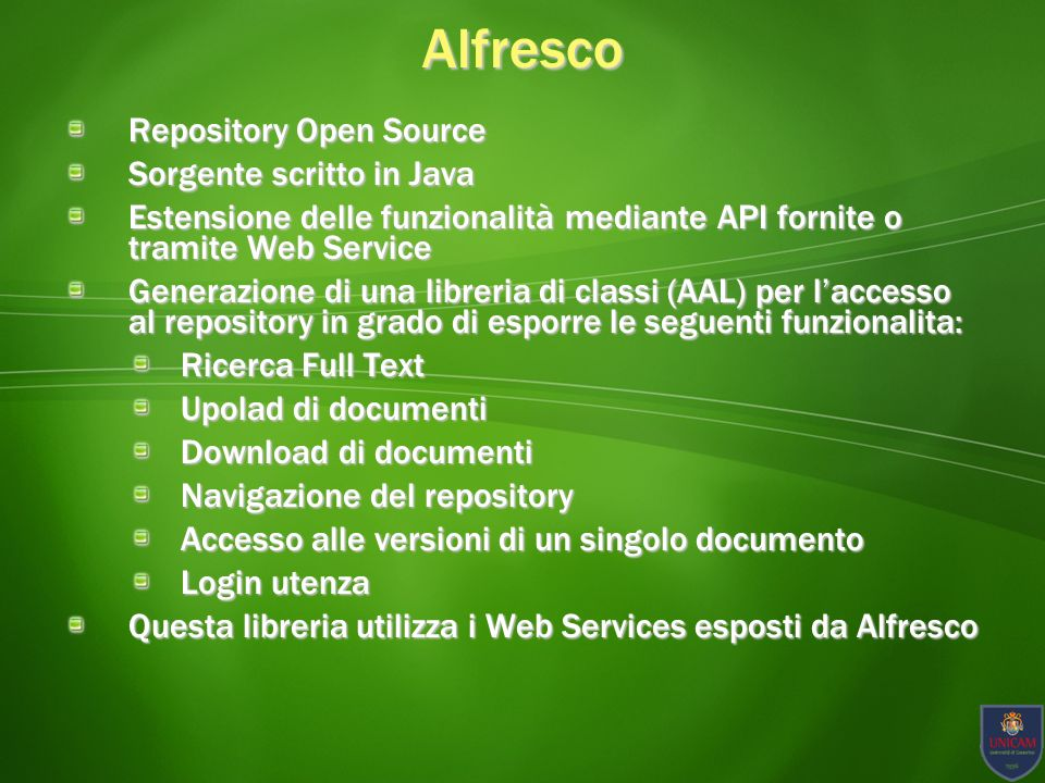 Alfresco Repository Open Source Sorgente scritto in Java