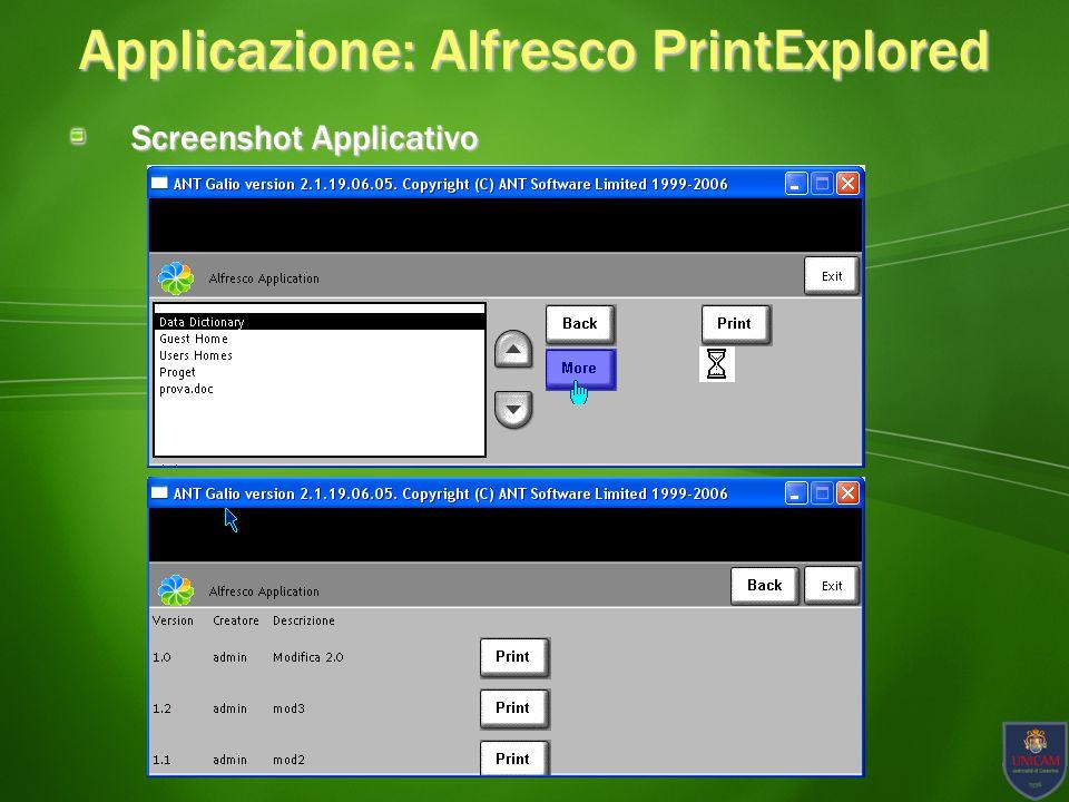 Applicazione: Alfresco PrintExplored