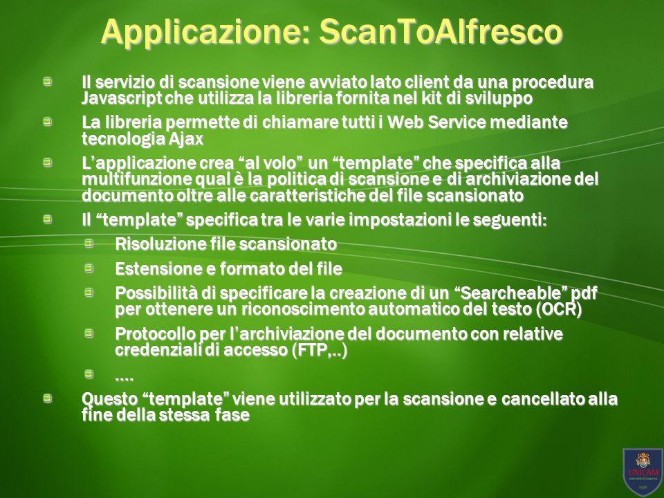 Applicazione: ScanToAlfresco