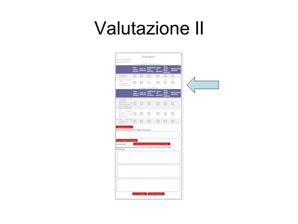 Valutazione II