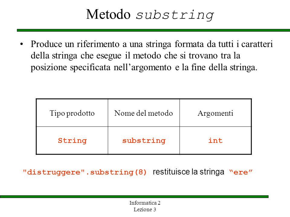 Metodo substring