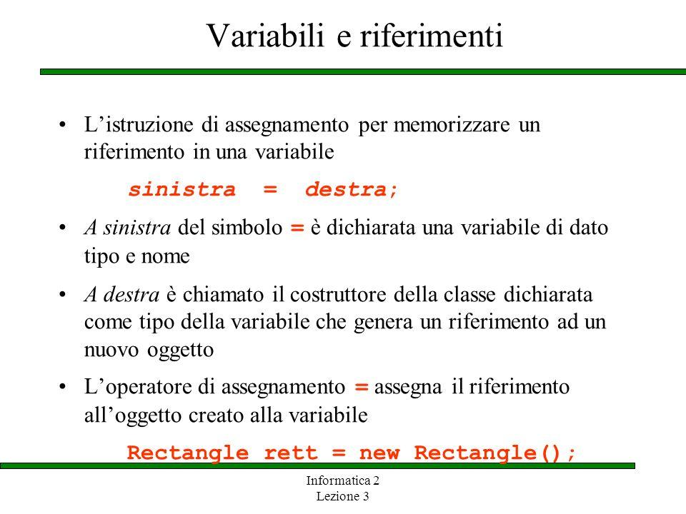 Variabili e riferimenti