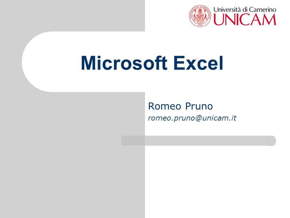 Romeo Pruno romeo.pruno@unicam.it