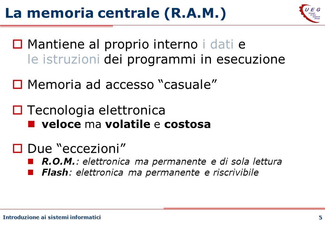 La memoria centrale (R.A.M.)