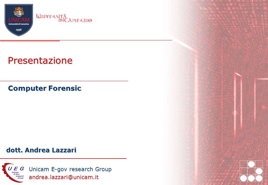Presentazione Computer Forensic 27/03/2017