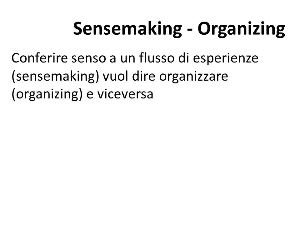 Sensemaking - Organizing