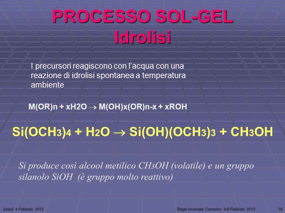 PROCESSO SOL-GEL Idrolisi