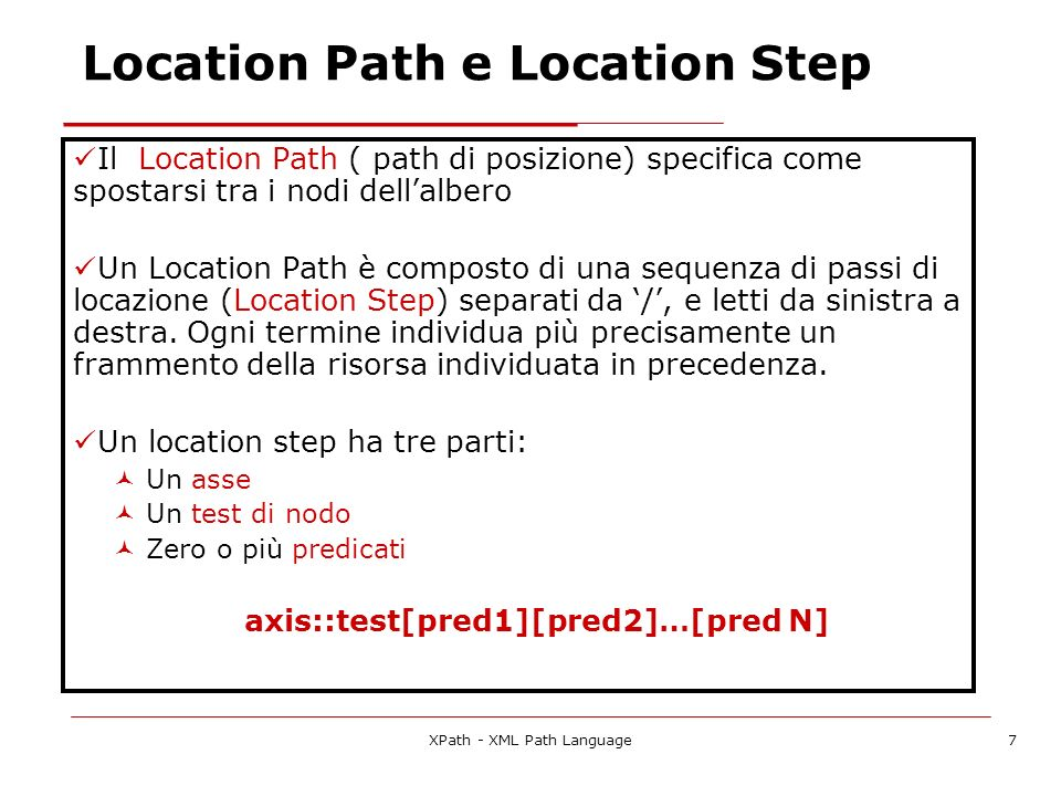 Location Path e Location Step