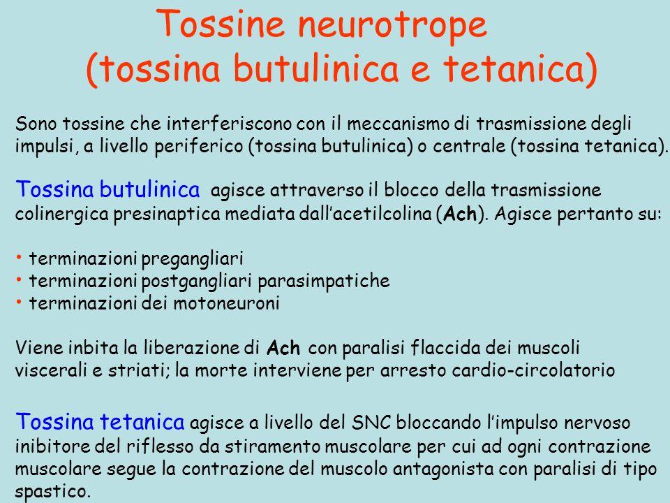 Tossine neurotrope (tossina butulinica e tetanica)