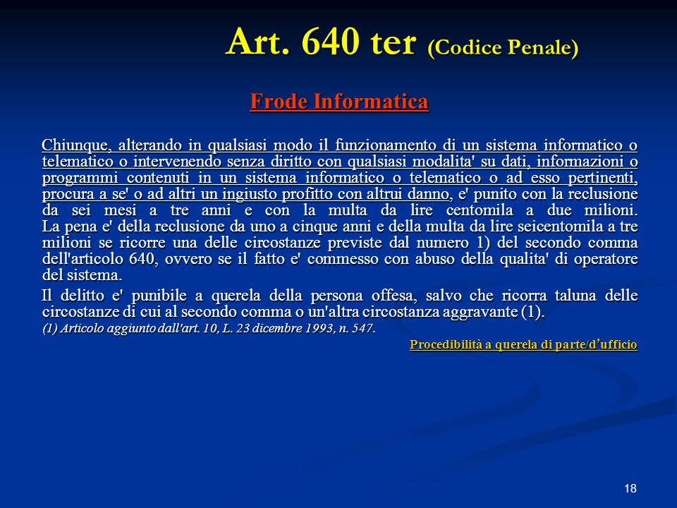 Art. 640 ter (Codice Penale)