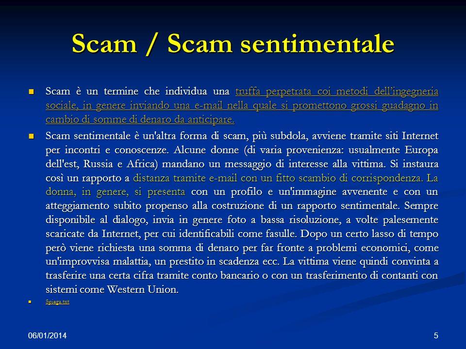 Scam / Scam sentimentale