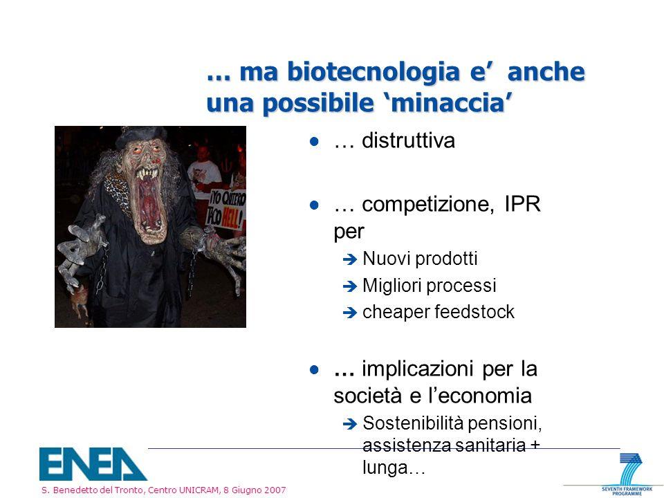 … ma biotecnologia e' anche una possibile 'minaccia'