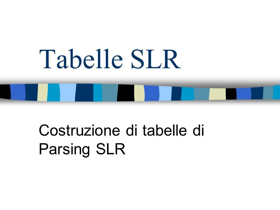 Costruzione di tabelle di Parsing SLR