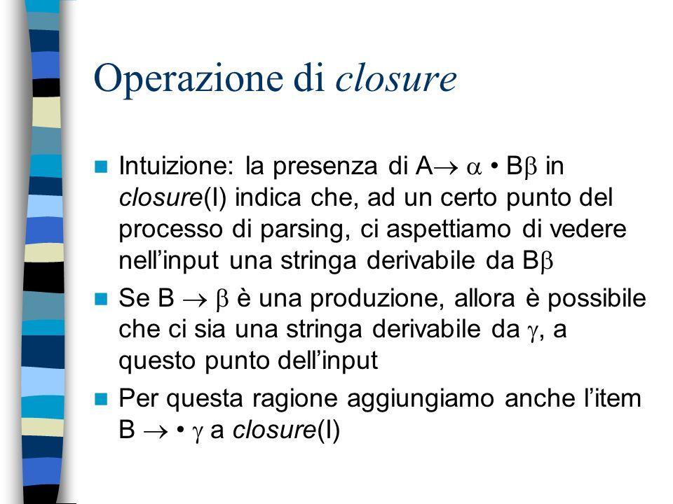 Operazione di closure