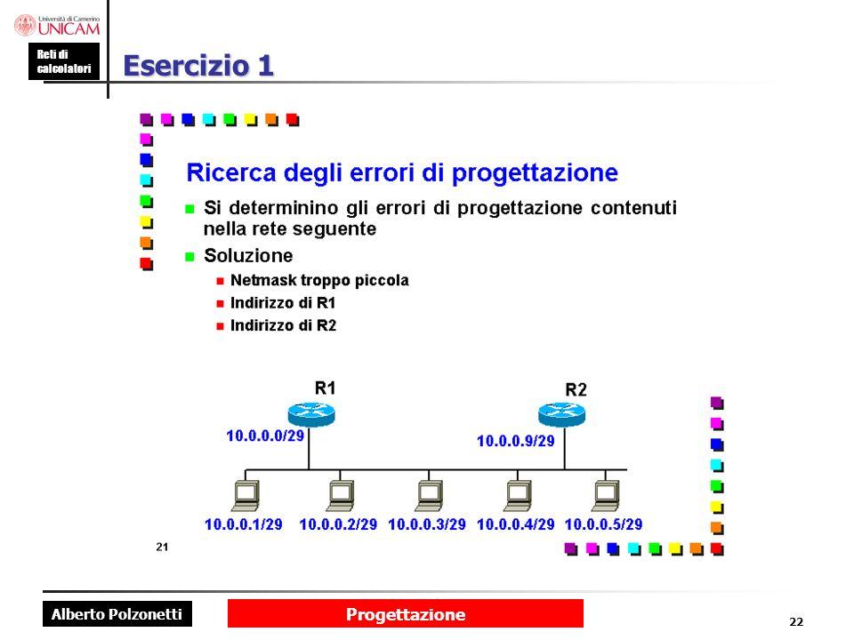Esercizio 1 Progettazione