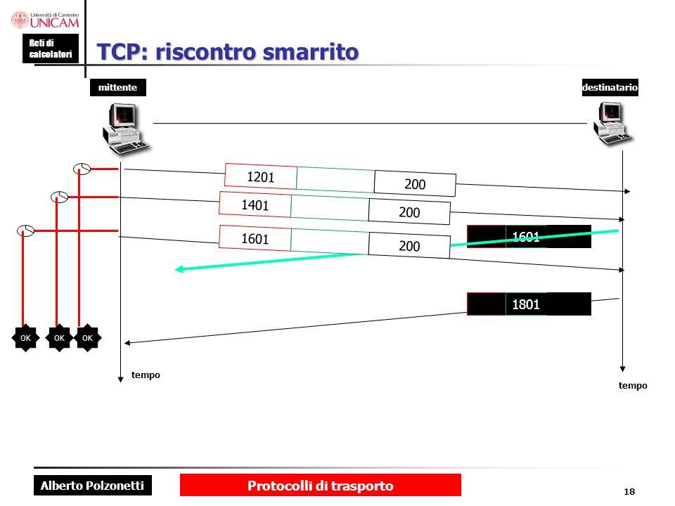 TCP: riscontro smarrito