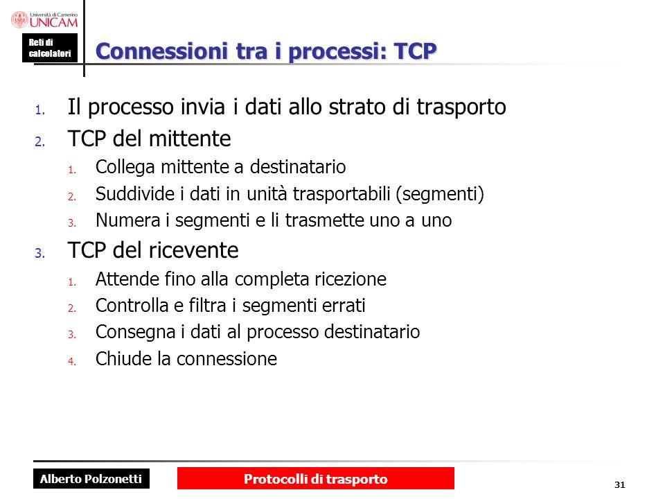 Connessioni tra i processi: TCP