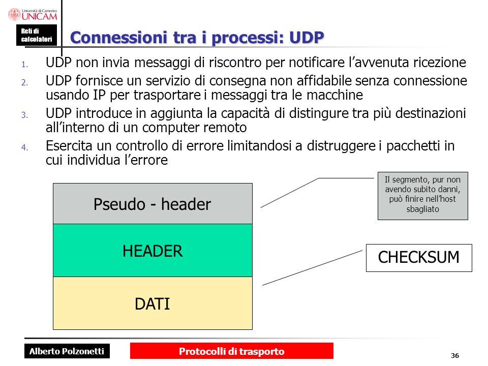 Connessioni tra i processi: UDP