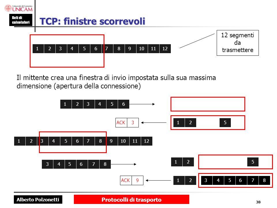 TCP: finistre scorrevoli