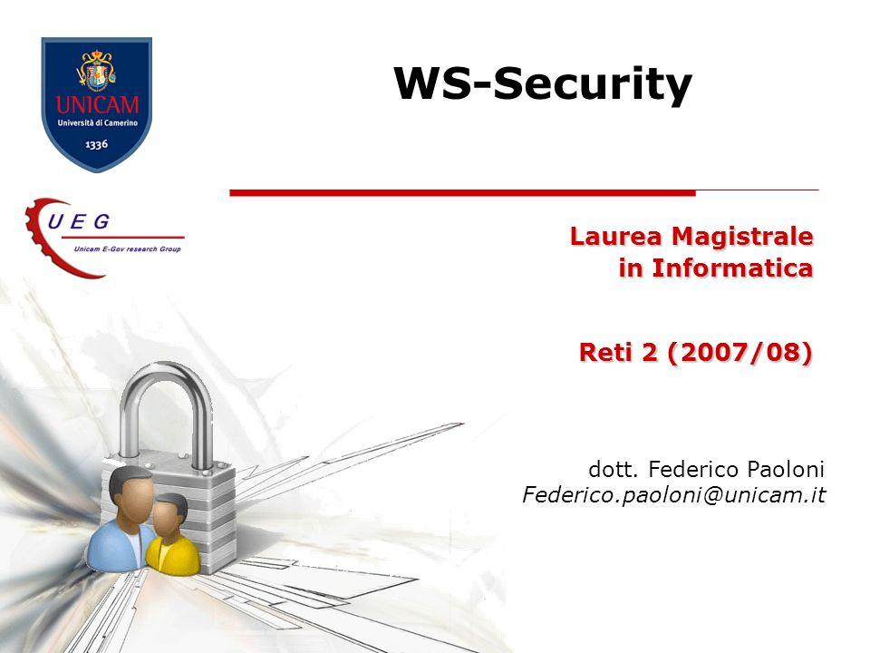 Laurea Magistrale in Informatica Reti 2 (2007/08)