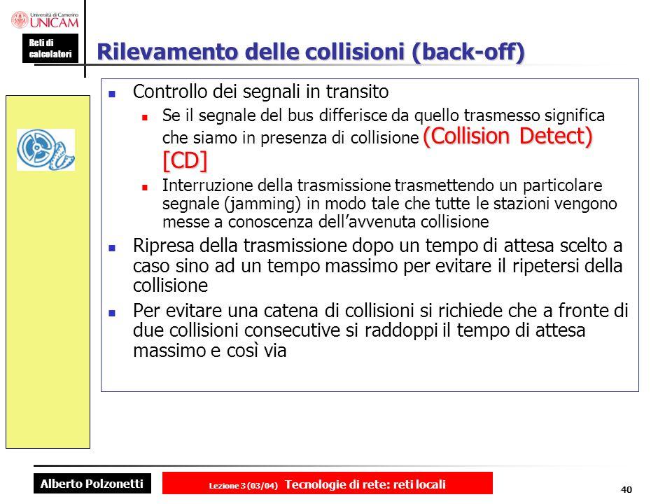 Rilevamento delle collisioni (back-off)