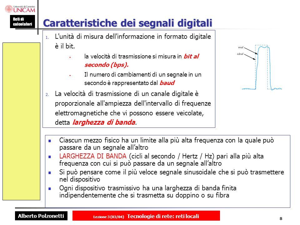 Caratteristiche dei segnali digitali