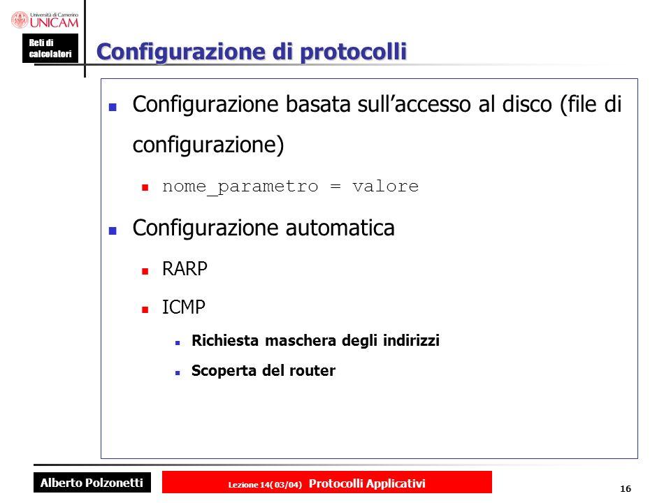 Configurazione di protocolli