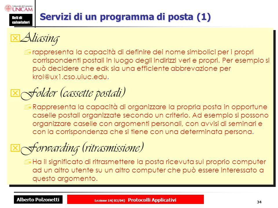 Servizi di un programma di posta (1)